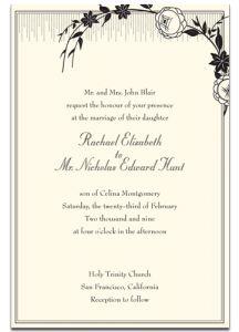 Wedding Invitation Wording In French