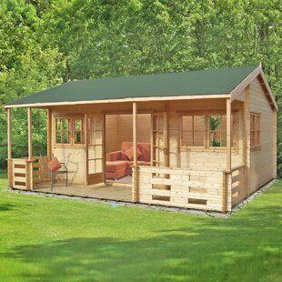 Dakota Fields Greenfield 8 X 10 Ft Shiplap Summer House Wayfair Co Uk In 2021 Wooden Cabins Cabin Summer House