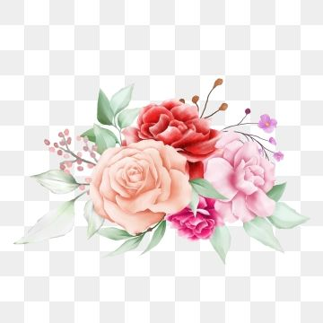Cute Watercolor Flowers Bouquet For Cards Composition Art Clipart Flower Botanical Png And Vector With Transparent Background For Free Download Seni Undangan Pernikahan Pernikahan