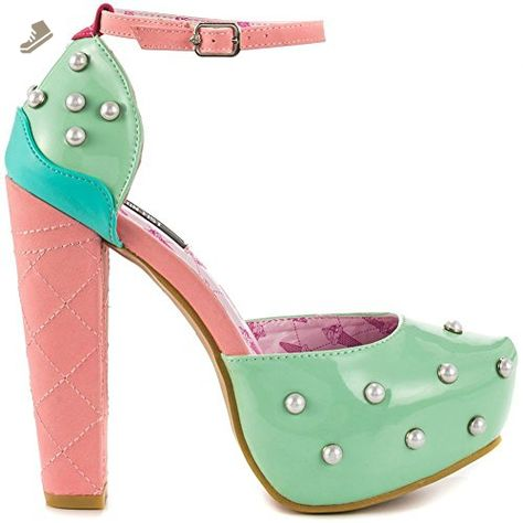 Iron Fist Love Me Now Turquoise Rockabilly High Heel