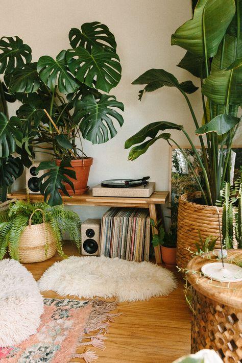 Creating a Jungle Record Corner — Black & Blooms