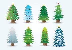 Free Cartoon Christmas Tree Whimsical Christmas Trees Cartoon Christmas Tree Vector Art Design
