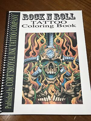 Rock And Roll Tattoo Coloring Book Tattoo Coloring Book Rock And Roll Tattoo Coloring Books