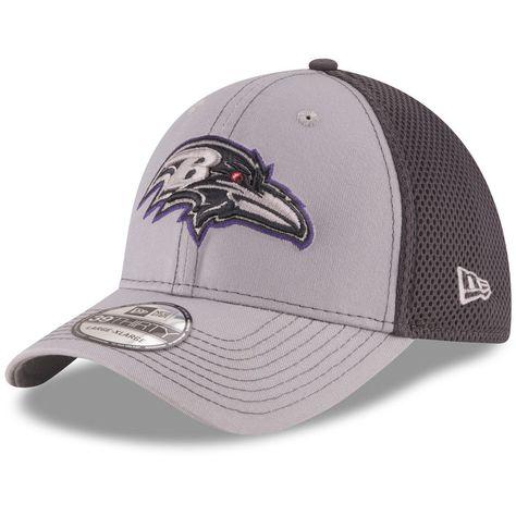 Baltimore Ravens New Era Grayed Out Neo 2 39THIRTY Flex Hat - Gray Graphite 4df46b99500c