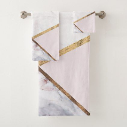 Rose Gold Marble Swirl Blush Pink Bronze Glam Bath Towel Set Zazzle Com Rose Gold Marble Decorative Bath Towels Rose Gold Room Decor