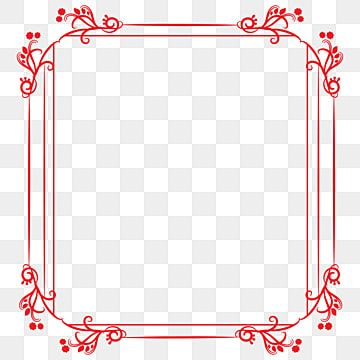 Vector Vintage Red Photo Frame Png Transparent Background Border Vector Vintage Red Photo Frame Png Transparent Background Png And Vector With Transparent Ba Red Photo Frames Frame Border Design Simple Photo