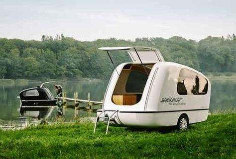 Go Camping and Boating at the Same Time with This Amphibious