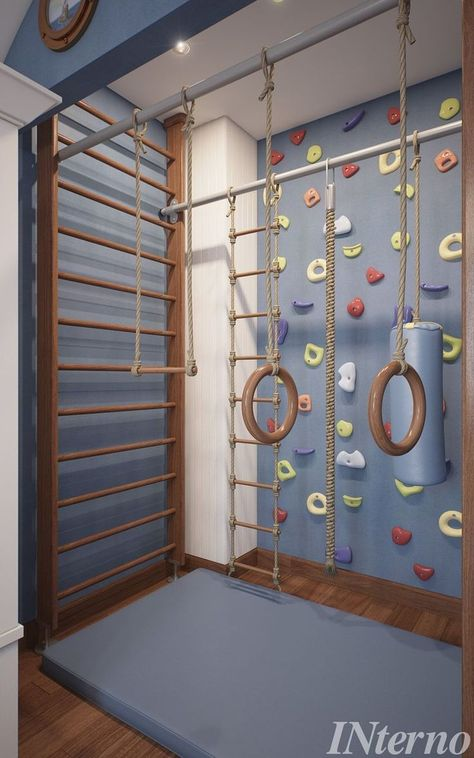 Home Gym - Baby Boy - Home Gyms - amzn. - Kinderzimmer - Home Gym Kids Gym, Toy Rooms, At Home Gym, Dream Rooms, Kid Spaces, Kids Corner, Play Corner, My New Room, Play Houses