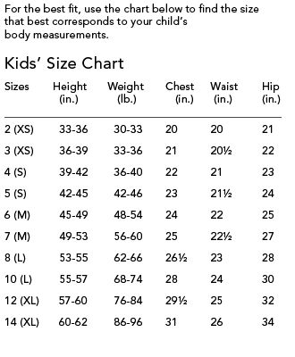 Childrens size chart baby toddler s knit crochet sewing