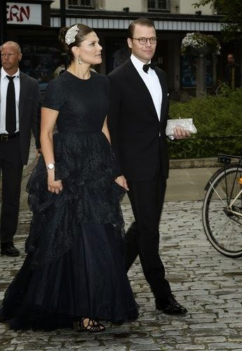 Crown Princess Victoria and Prince Daniel arrives the Gala Dinner events 2014 for the World Childhood Foundation, Berns, Stockholm, 2014-Sept. 8,