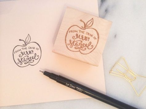 From the Desk of Custom Teacher Stamp by ColbieAndCo on Etsy
