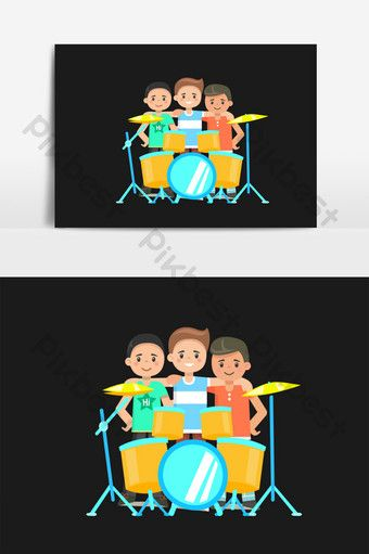 Cartoon Fresh Boy Playing Drum Band Vector Elements Png Images Psd Free Download Pikbest Boys Playing Drum Band Png Images