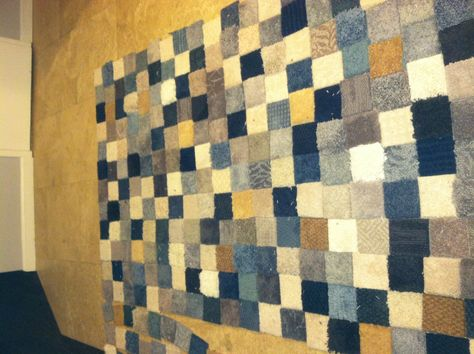 Patchwork Rug Made From Free Carpet Samples And Gorilla Tape With