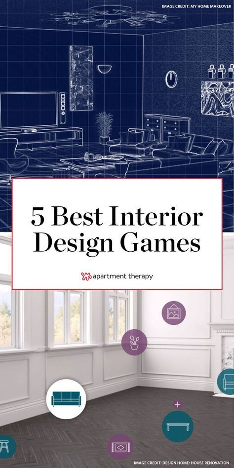 Let your inner interior designer go wild with these phone or laptop games that let you organize and decorate spaces while having fun.  #interiordesign #designapps #interiordesignapps #designgames #interiordeisgngames