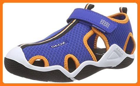 Geox JR WADER C, Jungen Sneakers, Blau (ROYALORANGEC0685