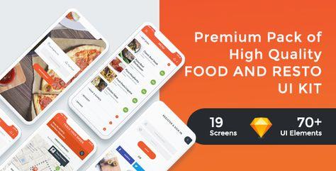 FoodRest - Food & Resto UI KIT for Sketch