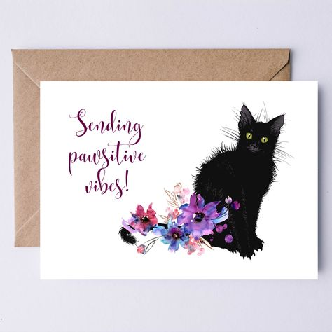 Read the full title Sending Pawsitive Vibes Printable Card   Send to someone who needs support due to grief, recovery, divorce, a breakup, job loss, etc
