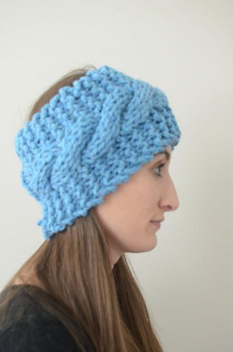 Chunky Knit Cable Headband Cable Knit Headband Knit Headband Knit
