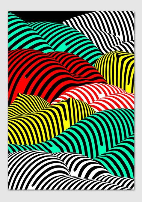 Timo Lenzen: Striped Hills (c) Timo Lenzen / 100 Beste Plakate e.