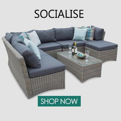 Www Featuredeco Co Uk Rattan Outdoor Furniture Wicker Garden Furniture Corner Sofa
