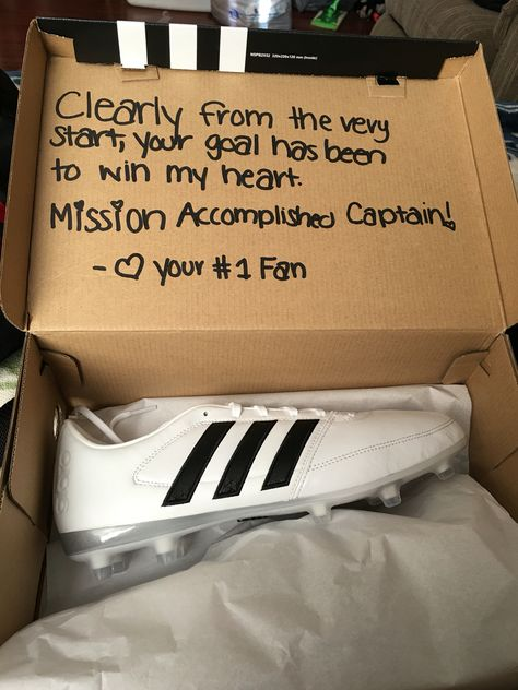 Cute Valentines Idea For The Soccer Players In This Case Mines A Captain Valentines2016 Boyfriend Gifts Diy Gifts For Boyfriend Cute Valentine Ideas
