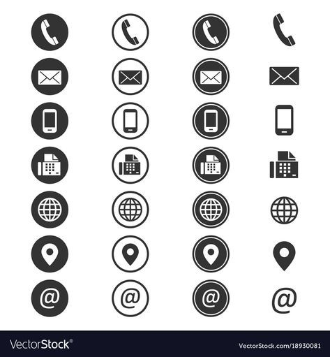 Contact Info Icon Vector Image On Vectorstock Book Icons Resume Icons Address Icon