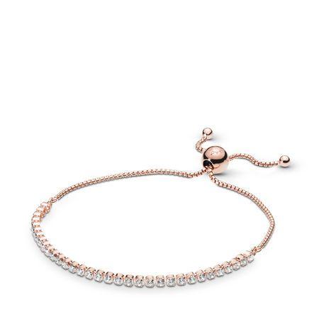 Sparkling Slider Tennis Bracelet In 2020 Pandora Bracelets Rose Bracelet Strand Bracelet