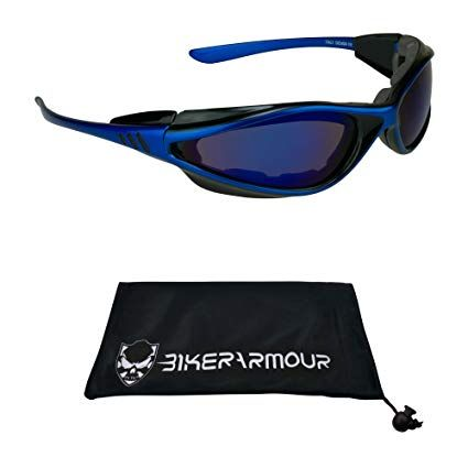 Photochromic lenses Light Adjusting Motorcycle Sunglasses Foam Padded for Men and Women Free Microfiber Cleaning Case Included Anaconda//TR//YE