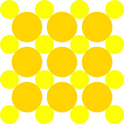 If you can only use each circle once, how many Mickey Mouse faces can you make on this grid?