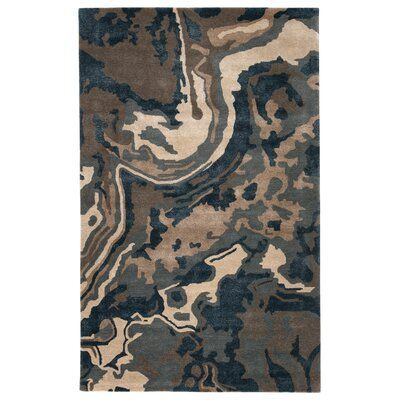 Jaipur Living Inspired Blue Wool And Art Silk Hand Tufted Blue Tan