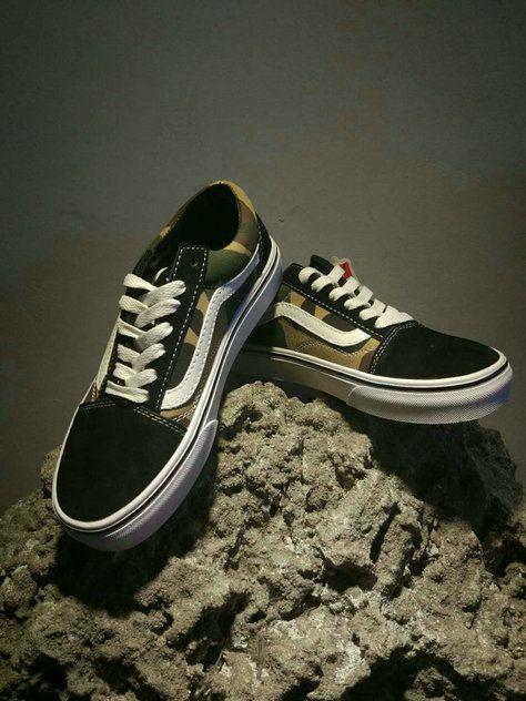 Vans Classic Old Skool Og05 Army Green Black Skate Shoe Vans For Sale Vans Vans Classic Old Skool Vans Vans Old Skool