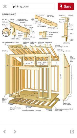 10x12 Storage Shed Plans Diy Storage Shed Shed Building Plans