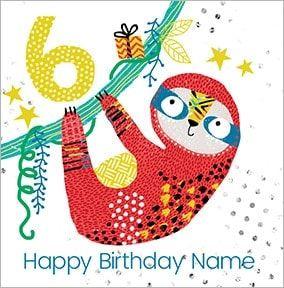 Boys Personalised Sloth Birthday Card Kids Birthday Cards Birthday Cards For Boys Birthday Cards