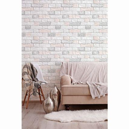 Glitter Brick Wallpaper Blush Brick Wallpaper Pink And Grey Wallpaper Brick Wallpaper Bedroom