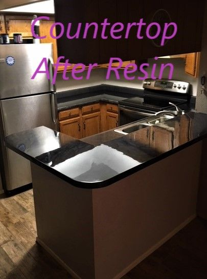 Beautiful High Gloss Heat Resistant Countertops After Applying