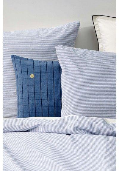 Duvet Cover Striped Blue 100 Cotton Percale Duvet Covers Duvet Bed Pillows