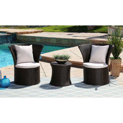 Ella 3 Piece Outdoor Bistro Set In 2020 Outdoor Furniture