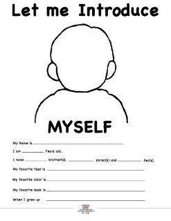 Image result for myself worksheet for kindergarten pinterest ...