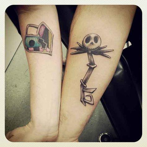 Jack skellington key and Sally lock!!! <3