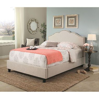 Colin Upholstery Platform Bed Assorted Sizes Upholstered