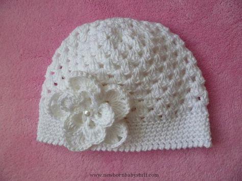 Häkelanleitung Für Baby Taufmütze Häkeln Und Stricken Crochet