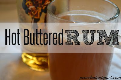 A warm, spiced rum drink for the holidays!