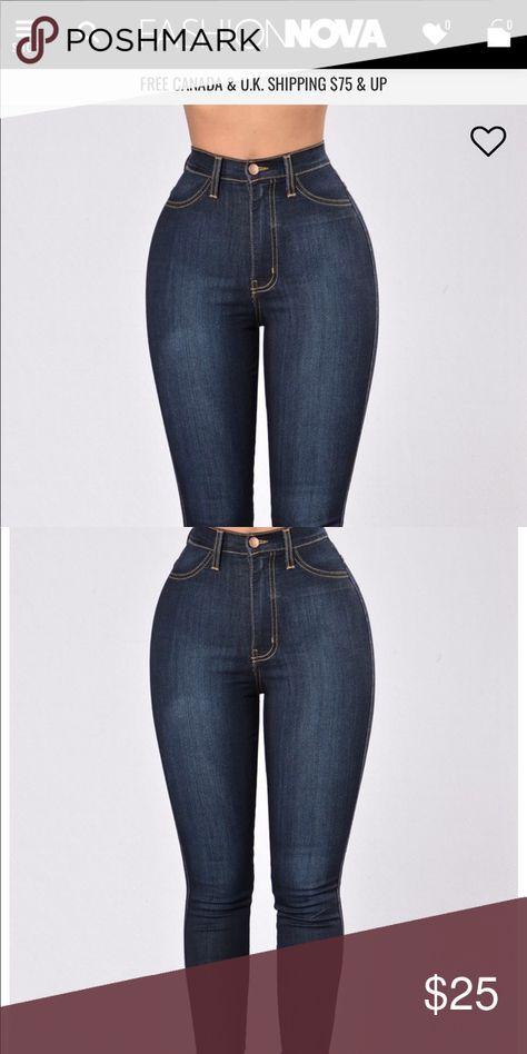 Classic Fashion Nova Jeans Dark wash \u201cclassic high,waisted