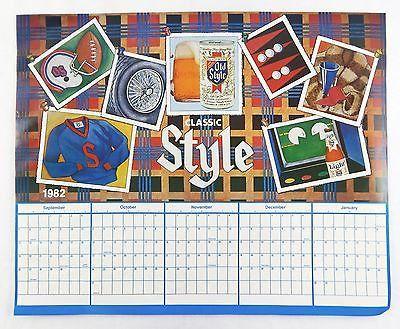 Vintage 1982 1983 Heileman S Old Style Beer 10 Month Calendar