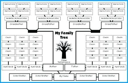 Excel Family Tree Template Family Tree Lesson Plans Large Tree