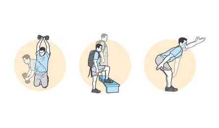 back exercises to prep for backpacking/hiking