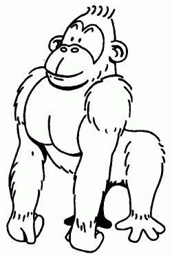 Maymun Boyama Sayfasi Monkey Coloring Pages Free Printable