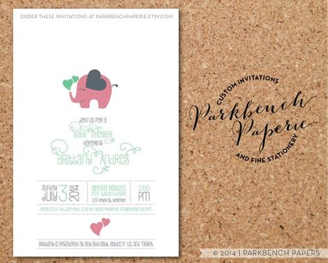 Baby Shower Invitation Customized With Your Information Printable
