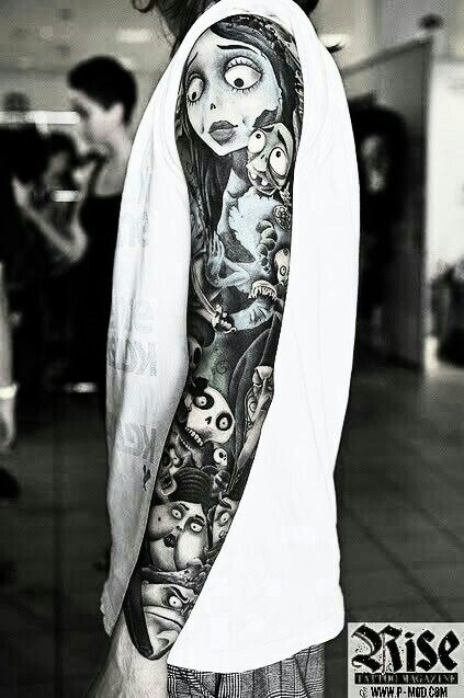 Tim Burton tattoos-tumblr
