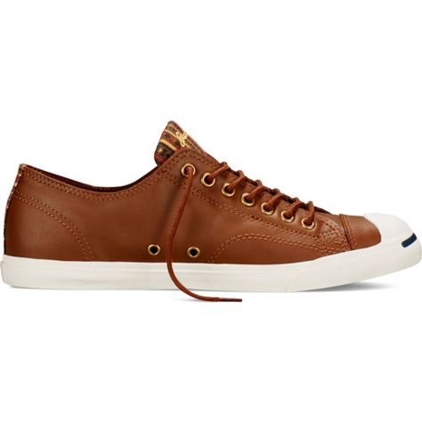 93994dd9aeac11 Converse Jack Purcell Low Profile Slip – brown ( 65) ❤ liked on Polyvore  featuring shoes